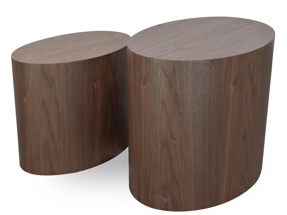 Albin Scandinavian Wooden Side Tables - Walnut by Interior Secrets - AfterPay Available