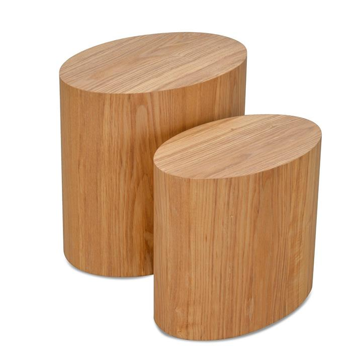Albin Scandinavian Set of Tables - Natural by Interior Secrets - AfterPay Available
