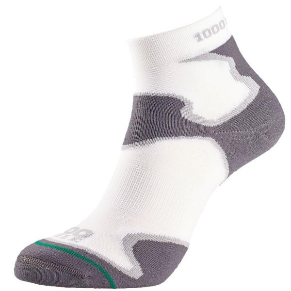 1000 Mile Anti Blister Fusion Anklet Womens Sports Socks - Double Layer - White/Grey