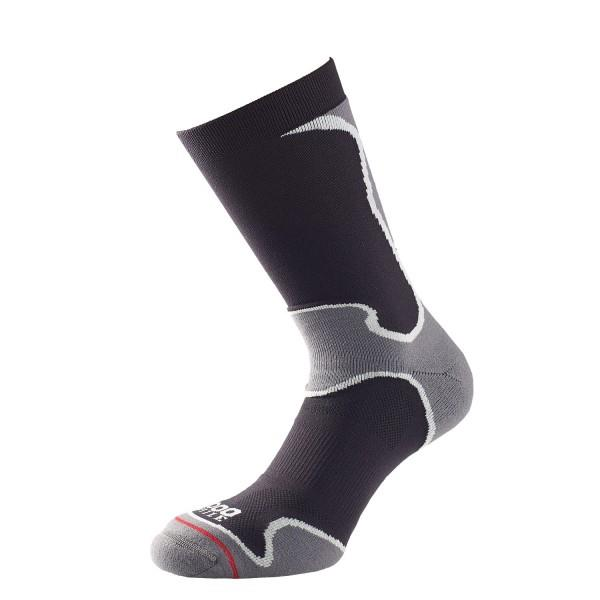 1000 Mile Fusion Womens Sports Socks - Double Layer, Anti Blister - Black/Grey